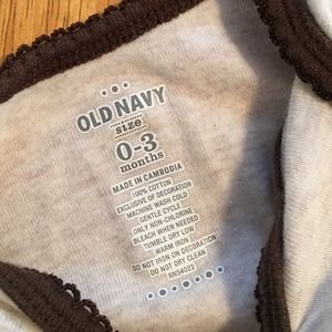 Old Navy Pajamas - Old Navy Sock Monkey Sleeper Size 0-3 mos